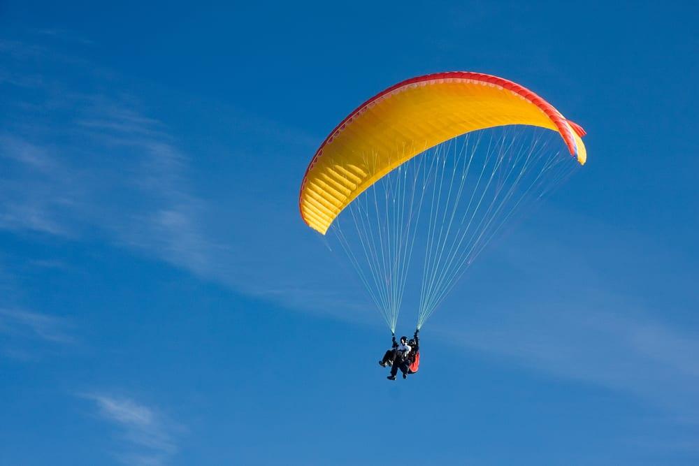 paragliding-blue-sky